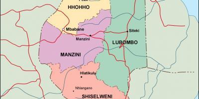 Carte Afrique Du Sud A Imprimer.Swaziland Kangwane Eswatini Carte Cartes Swaziland